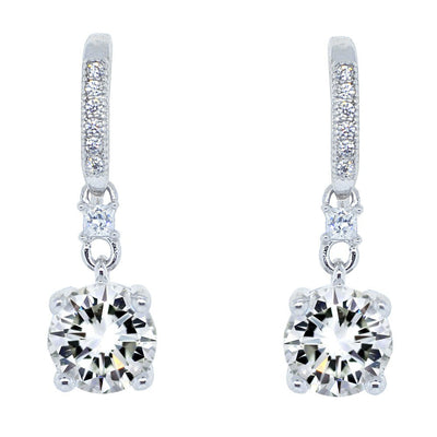 "Jewelry, Earrings, Drop Earrings - Valerie ""Pride"" 18k White Gold Plated Earrings"