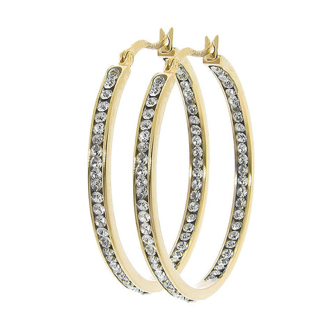 Jewelry, Earrings, Hoop Earrings - Isabella Diamond Simulated Hoop Earrings - 1.62""