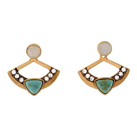 "Jewelry, Earrings, Statement - Ila ""Beautiful"" 3-in-1 Earrings"