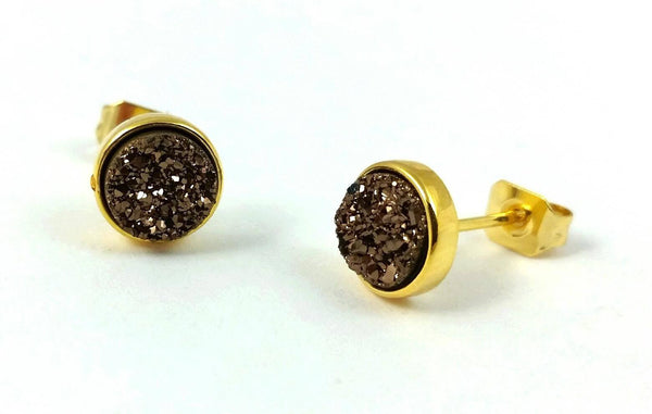 ear lady ball plated jewelry earrings round gold p women stud gift bead for