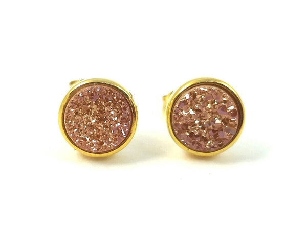 natural jardin earrings round druzy prev stud filled nadine gold product amethyst