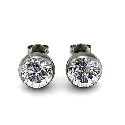 "Jewelry, Earrings, Studs, Silver, Swarovski - Blaire ""Majestic"" 18k White Gold Swarovski Studs"