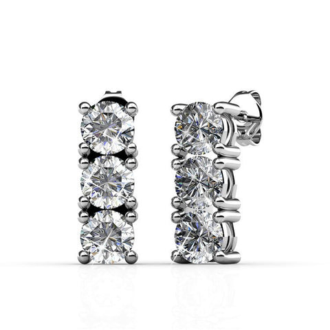 "Jewelry, Earrings, Swarovski, Silver - Eliana ""Revered"" 18k White Gold Swarovski Earrings"