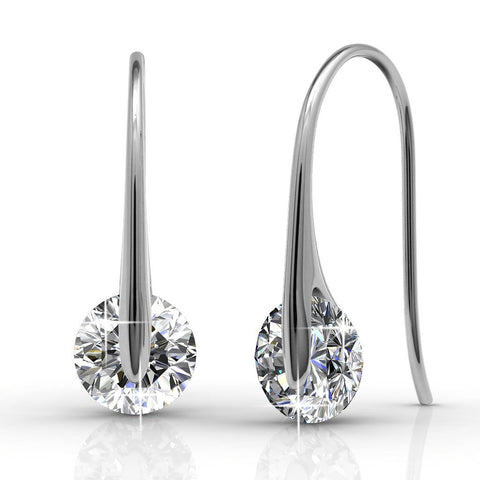 "Jewelry, Earrings, Swarovski, Silver - McKayla ""Wondrous"" 18k White Gold Earrings"