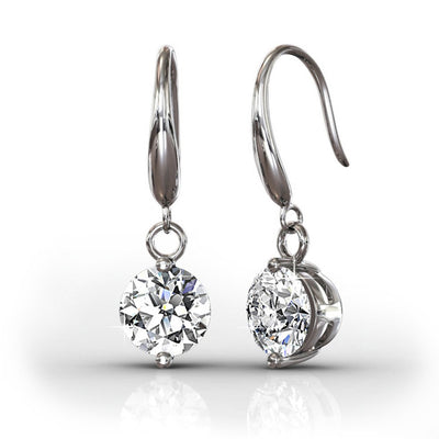 "Jewelry, Earrings, Swarovski - Veronica ""Victorious""  Sterling Silver 18k White Gold Plated Swarovski Drop Earrings"