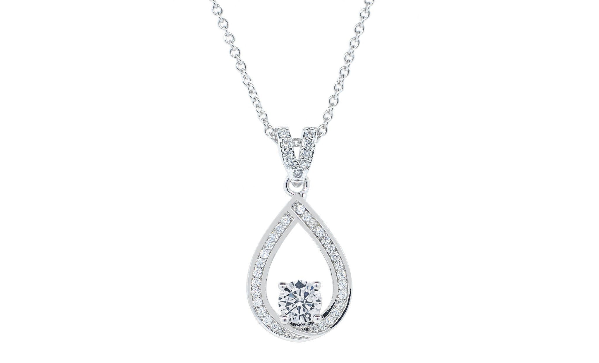 Arabella muse 18k white gold plated necklace cate chloe jewelry necklace pendant arabella muse 18k white gold plated necklace aloadofball