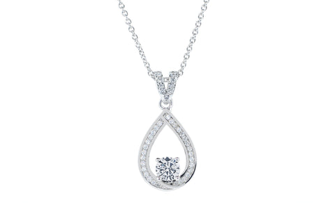 "Jewelry, Necklace, Pendant - Arabella ""Muse"" 18k White Gold Plated Necklace"