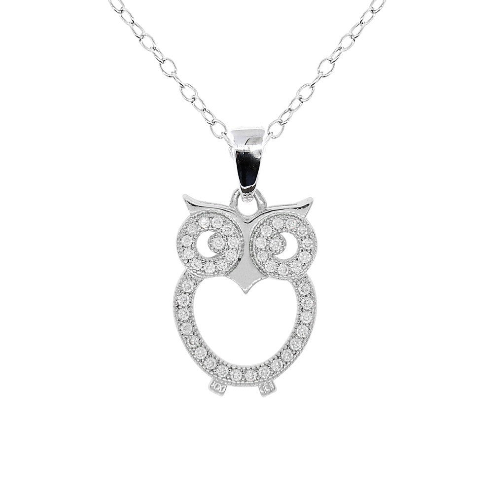 "Jewelry, Necklace, Pendant - Ari ""Wisdom"" 18k White Gold Plated Necklace"