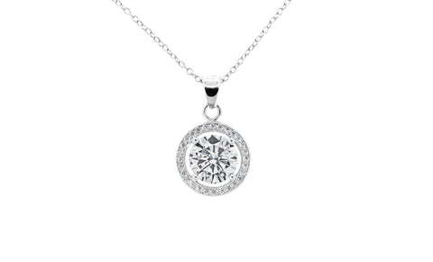 "Jewelry, Necklace, Pendant - Blake ""True"" 18k White Gold Plated Pendant Necklace"