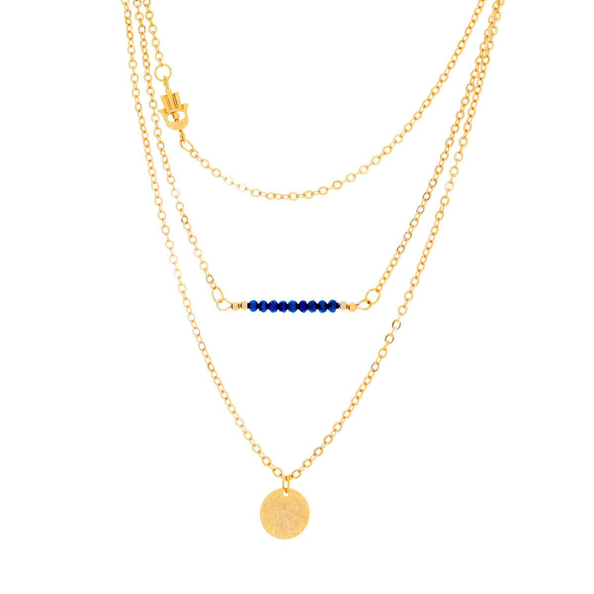 aliquo product by gold layered double chain plated necklace original goldplated