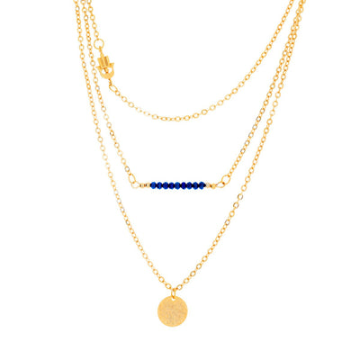 "Jewelry, Necklace, Pendant - Bria ""Dream"" 18k Gold Plated 3 Piece Layered Necklace"