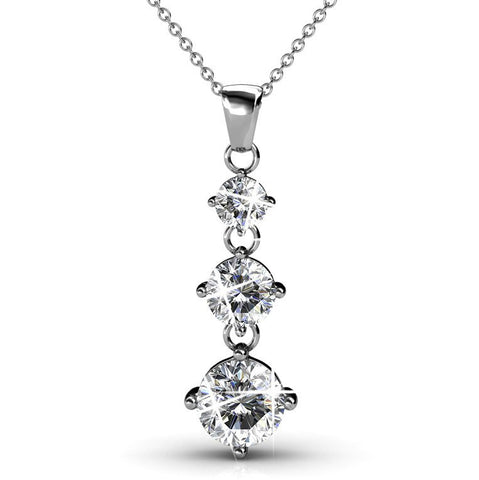 "Jewelry, Necklace, Pendant - Delilah ""Adorn"" 18k White Gold Plated Swarovski Pendant"