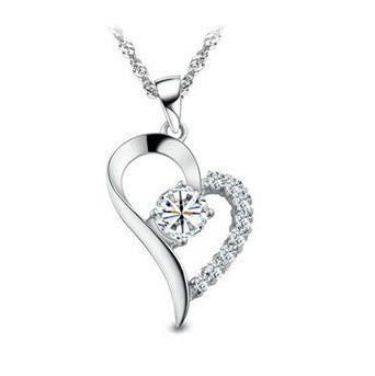 "Jewelry, Necklace, Pendant - Laila ""Radiant"" 18k White Gold Swarovski Pendant"