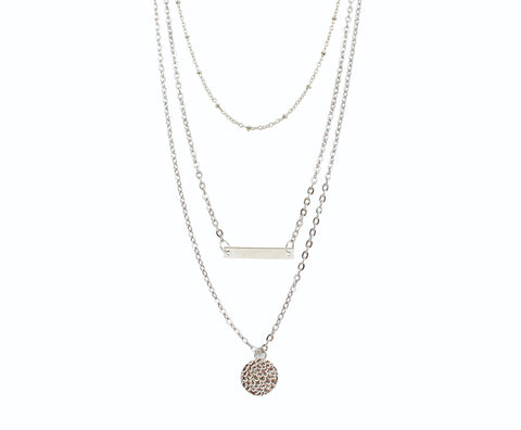 "Jewelry, Necklace, Pendant - Margot ""Definitive"" 3 Piece Layered Necklace In Silver"
