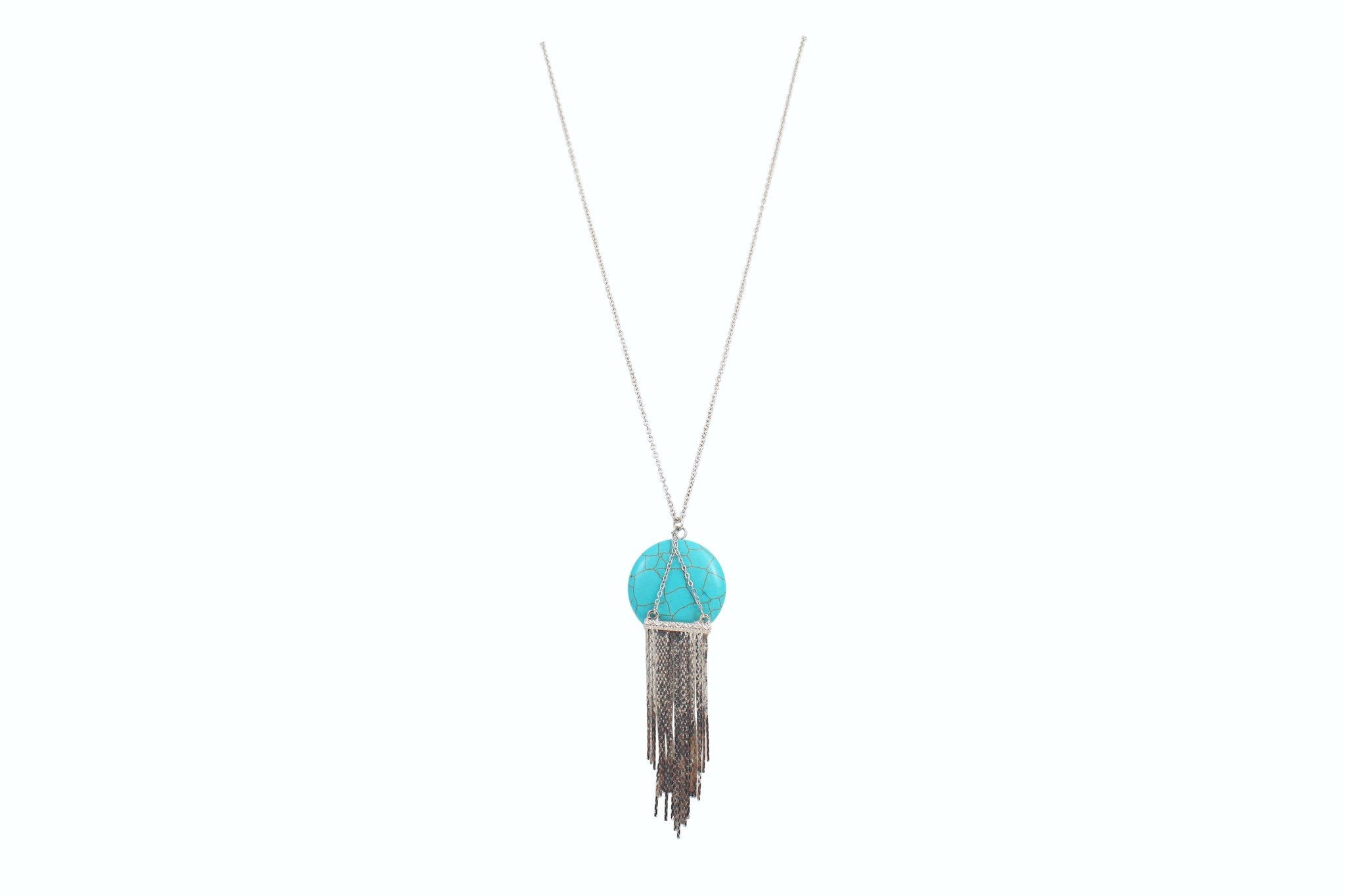 tassel larger necklace products image zoom the mint leather view boutique julep turquoise