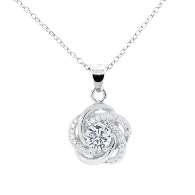 "Jewelry, Necklace, Pendant - Stella ""Cosmic"" 18k White Gold Plated Pendant Necklace"