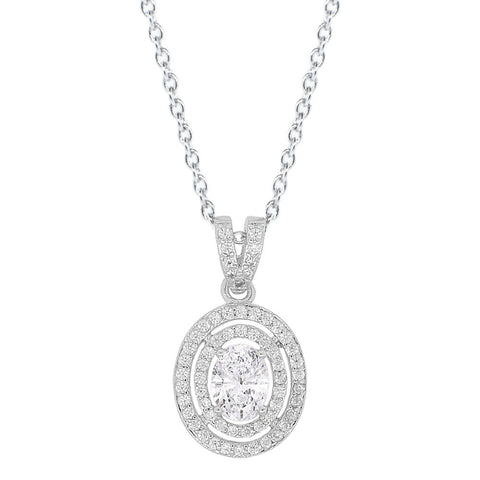 "Jewelry, Necklace, Pendant - Zelda ""Bliss"" 18k White Gold Plated Necklace"