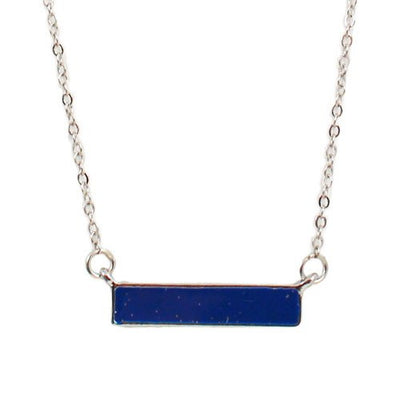 "Jewelry, Necklace, Silver - Suri ""Princess"" Blue Bar Silver Necklace"