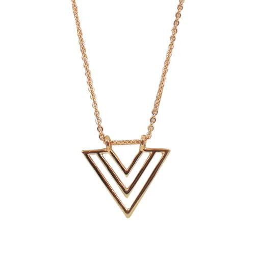 us claire gold necklace s toned arrow