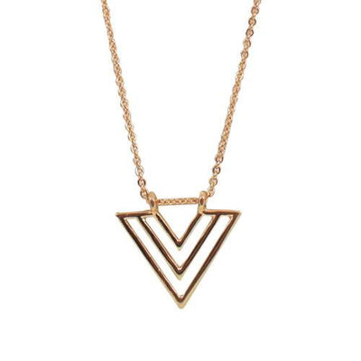 Jewelry, Necklace, Statement, Gold - Malin 'Warrior' Arrow Necklace In Gold