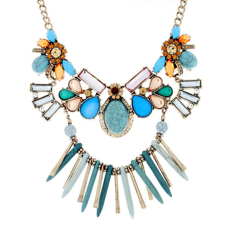 "Jewelry, Necklace, Statement, Gold - Naya ""Wanderer"" Statement Necklace"