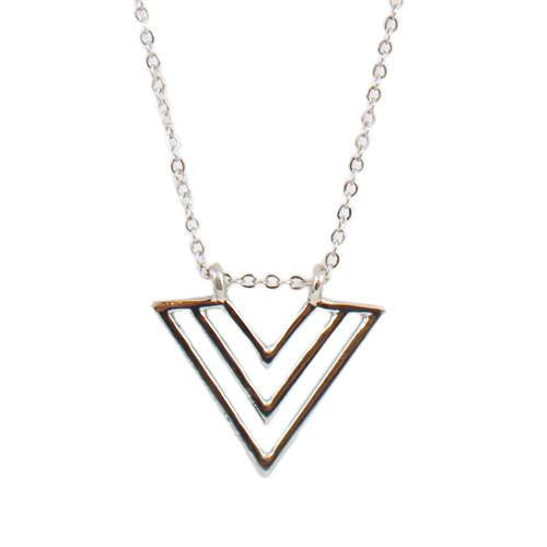 both rose arrow gold crystal necklace shop silver