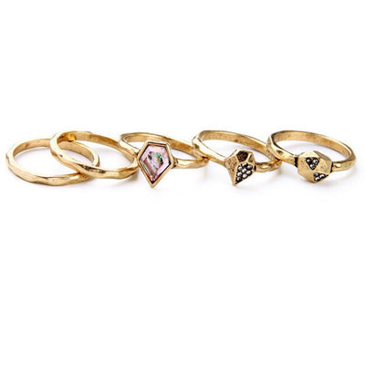 "Jewelry, Ring, Gold - Karlie ""Stunning"" Gold Ring Set"