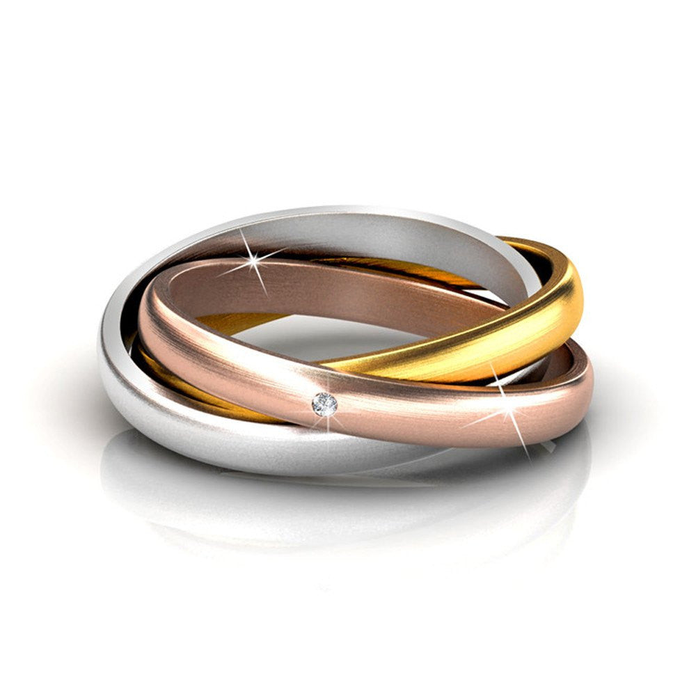 two contemporary rings silver sue ringset with by enagement ring lane products diamond band gold and modern yellow