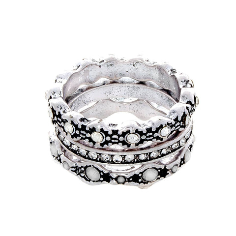 "Jewelry, Rings, Silver - Edie ""Queen"" Silver Ring Set"