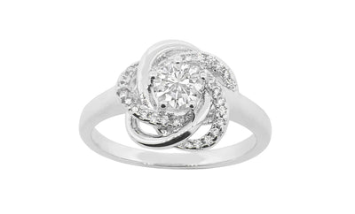 "Jewelry, Rings, Silver Rings - Stella ""Cosmic"" 18k White Gold Plated Ring"