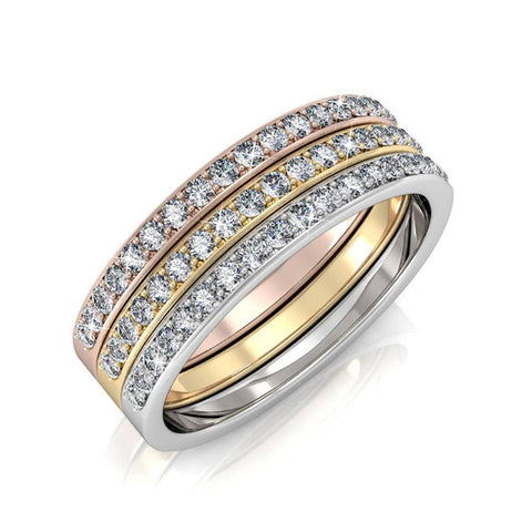 "Jewelry, Rings, Swarovski, Silver, Rose Gold, Yellow Gold - Elizabeth ""Faithful"" 18k Gold Plated Swarovski Ring"