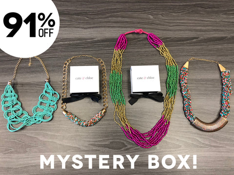 Statement Necklace Mystery Jewelry Box - (4 Necklaces)
