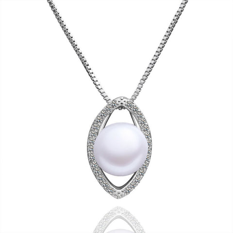"Necklace,Jewelry - April ""Open Up"" Pearl Pendant Necklace"