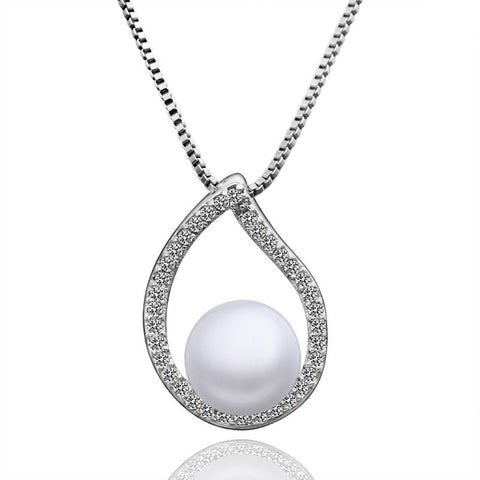 "Necklace,Jewelry - Ashley ""Dream"" Pearl Pendant Necklace"