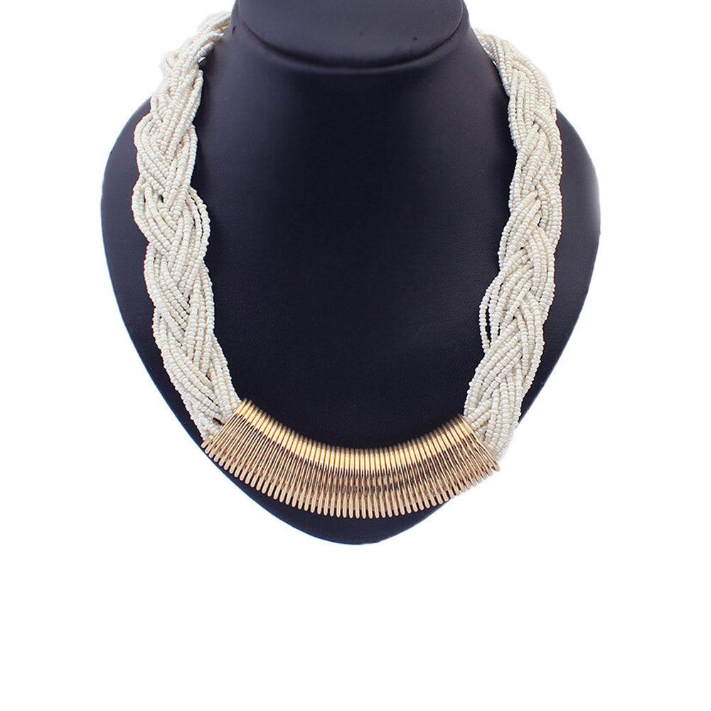 en necklaces boutique white necklace statement happiness snow