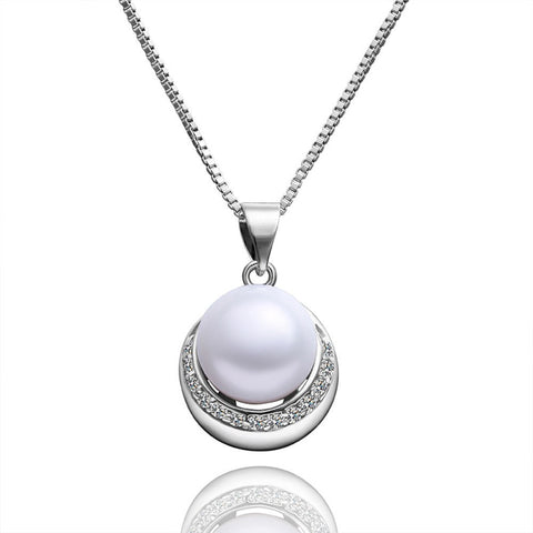 "Necklace,Jewelry - Emily ""Gift"" Pearl Pendant Necklace"