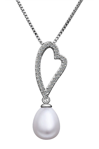 "Necklace,Jewelry - Kayla ""Slim"" Pearl Pendant Necklace"