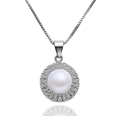 "Necklace,Jewelry - Kimberly ""Bright"" Pearl Pendant Necklace"