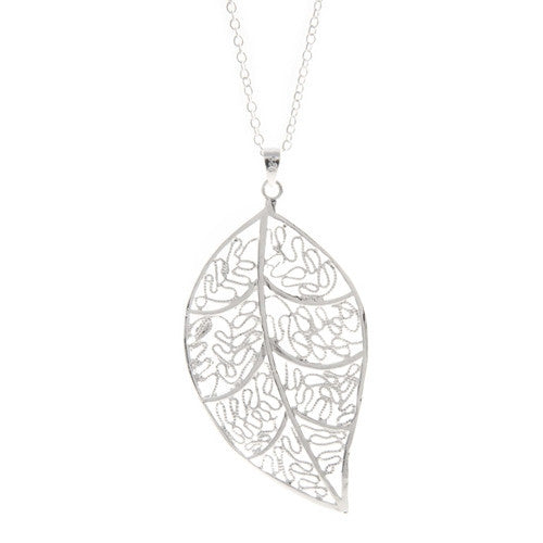 "Necklace,Jewelry - Laurel ""Nature"" Leaf Necklace"
