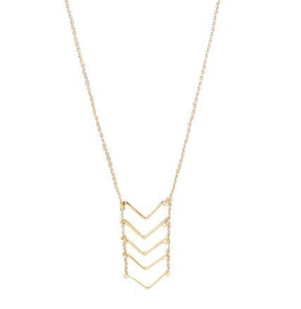 "Necklace,Jewelry - Madison ""Strength"" Chevron Ladder Necklace"