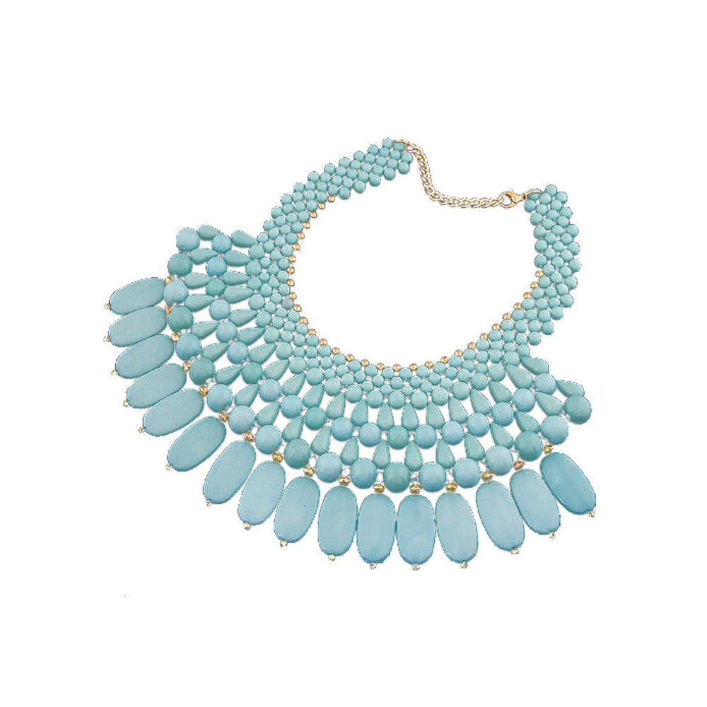 "Maya ""Maker"" Statement Necklace   Teal"