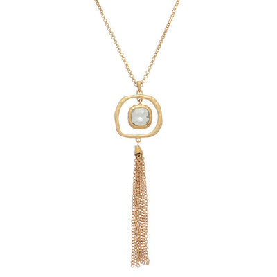 "Necklace,Jewelry - Mindi ""Loving"" Draping Pendant Necklace"