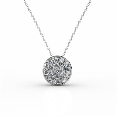 "Necklace,Jewelry - Nelly ""Valor"" 18k White Gold Swarovski Pave Necklace"