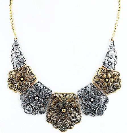 "Necklace,Jewelry - Ophelia ""Serene"" Statement Necklace"
