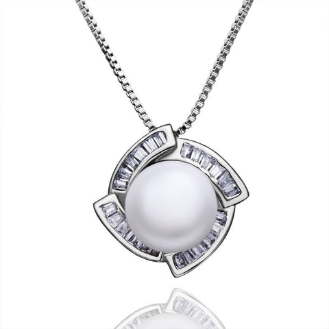 "Necklace,Jewelry - Tina ""Little One"" Pearl Pendant Necklace"