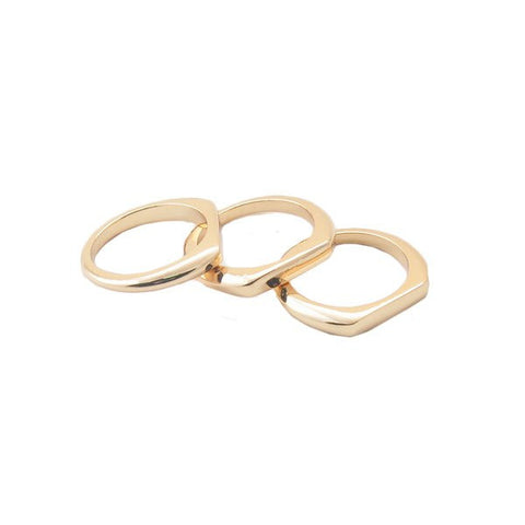 "Ring,Jewelry - Kara ""Pristine"" Stacked Ring Set"