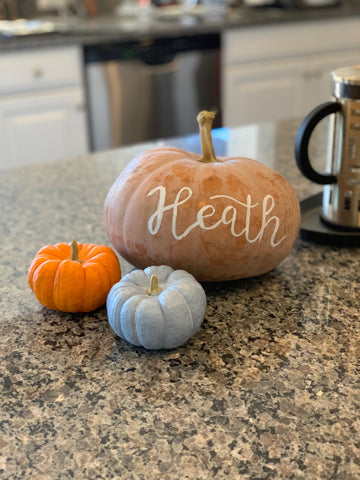 heath pumpkin painting