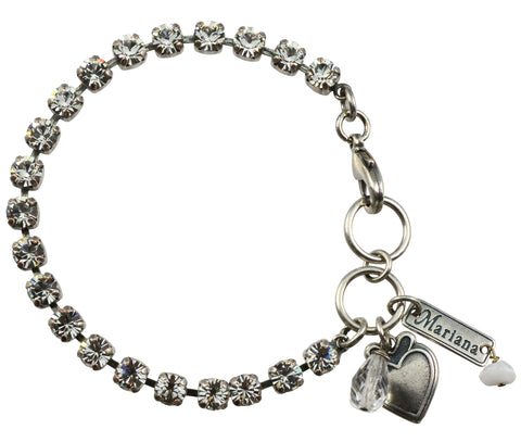 Mariana Silver Plated Clear Tennis Bracelet
