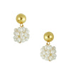 Susan Shaw Handcast Gold Top and Genuine Freshwater Pearl Cluster Earrings