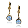 Anne Koplik Simple Drop Earrings, Gold Plated Light Blue